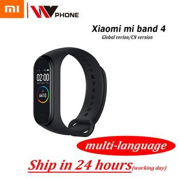 Original XiaoMi Mi Band 4 Smart Armband Fitness Armband MiBand Band 4 Herz Rate Zeit Großen Touchscreen Nachricht Smartband