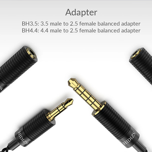 Image 2 - HIDIZS BH4.4 BH3.5 4.4/3.5 Male to 2.5 Female Balanced Adapter for of 4.4/3.5mm interface Audio output and 2.5mm interface IEM