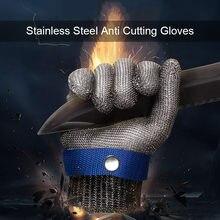 1-2 pces corte-resistente luvas de trabalho malha de aço inoxidável anti-corte para o açougueiro carregando pesca mãos proteção