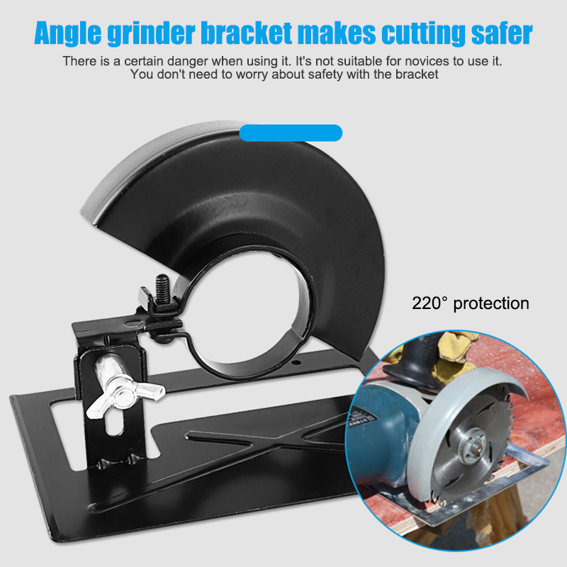 Hot Simple Bracket Angle Grinder Conversion Tool Bracket Holder Base Safety Guard Shield Case Accessories D6