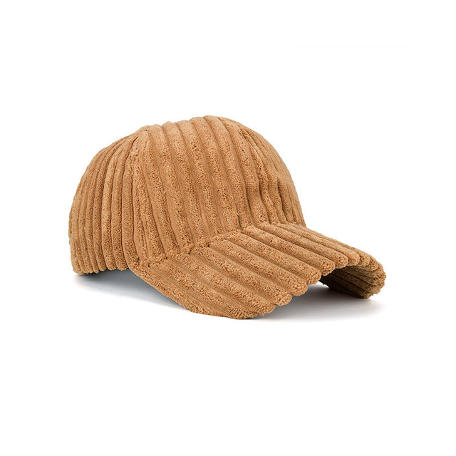 Fashion Winter Solid Color Thick Corduroy Baseball Cap Female Winter Plush Thickening Student Warm Cap Couple Baseball Caps 6