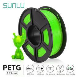 SUNLU PETG 3D Printer Filament 1.75mm 1KG/2.2LB Spool Plastic Petg Filaments 100% no bubble Tolerance +-0.02MM