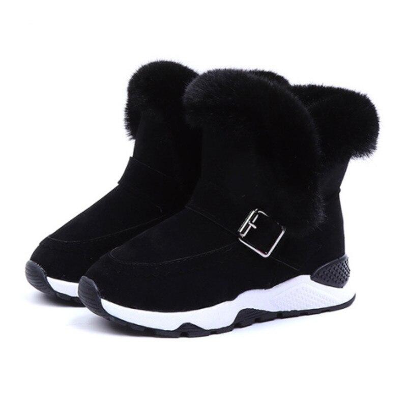 2019 Brand Girls Snow Boots Warm Children Winter Shoes Bota Infantil Fur Kids Boots For Girls Size 26-36