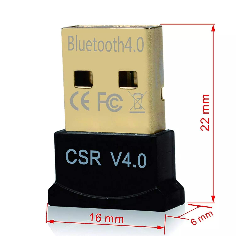 SEM Fio Mini USB Bluetooth CSR 4.0 Modo Duplo Adaptador Dongle Para Windows 10 8 7 Vista XP 32/64 Bit Raspberry Pi Preto 6