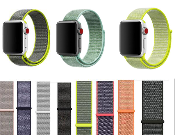 Top Selling Woven Strap For Apple Watch Nylon Band Sport Loop 38 42mm 40 44mm Belt For Iwatch Wristband Series 5/4/3/2/1