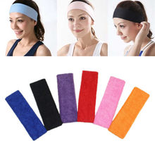 Sweatband Headband Elasticity Sweat Bands Stretch Head Hair Band Sports Safety Yoga Basketball Gym Sport for Men and Women(China)