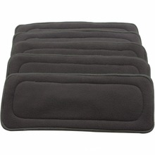 5PCS Reusable Bamboo Charcoal Insert Baby Cloth Diaper Mat Nappy Inserts Changing Liners 4layer each insert Wholesale