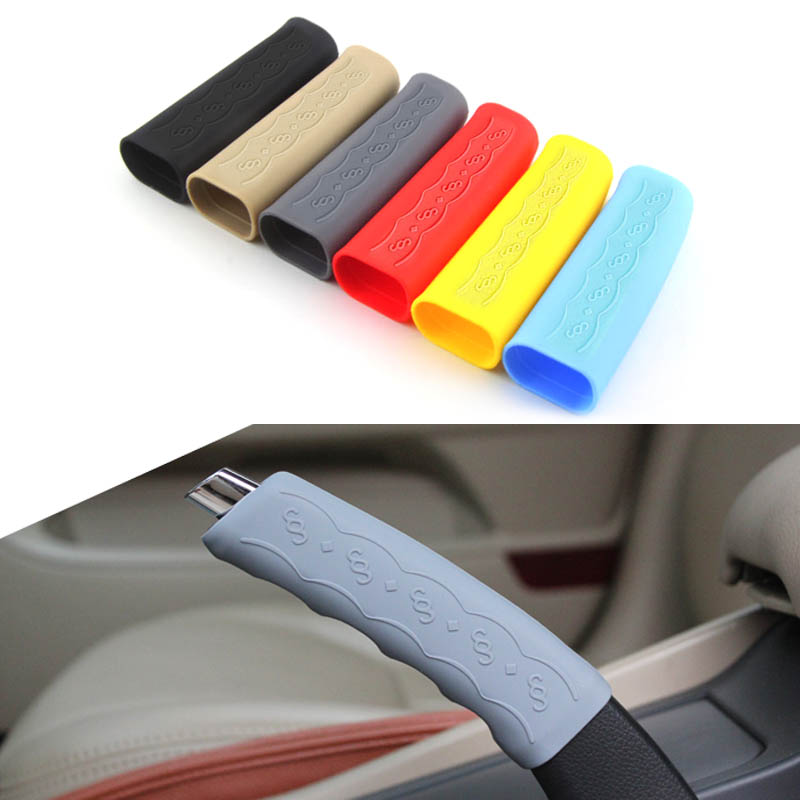 Car Styling Hand Brake Set Universal Car Handbrake Sleeve Silicone Cover Anti-Skid Auto Parking Brake Interior Accessory Cover