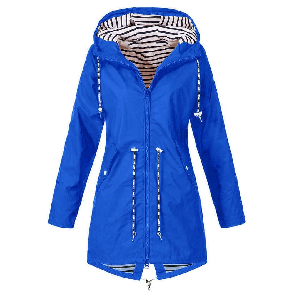 Solid Color Jacket Raincoat Outdoor Jacket Wind Jacket Waterproof Rain Jacket Long Rain Coat Women Motorcycle Windbreaker  9.3