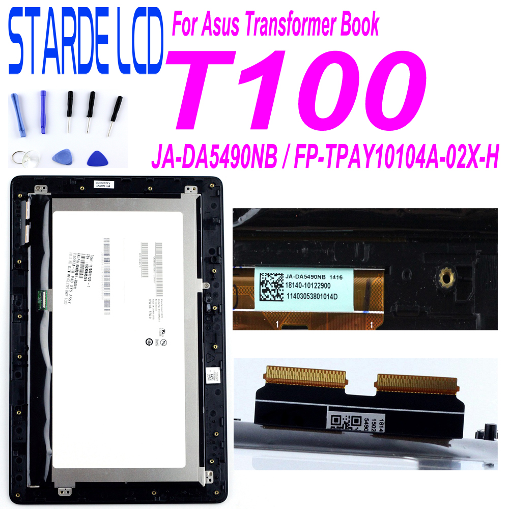For Asus Transformer Book T100 T100TA-C1-GR T100T 5490NB LCD Display Touch Screen Digitizer Assembly With Frame FP-TPAY10104A-02