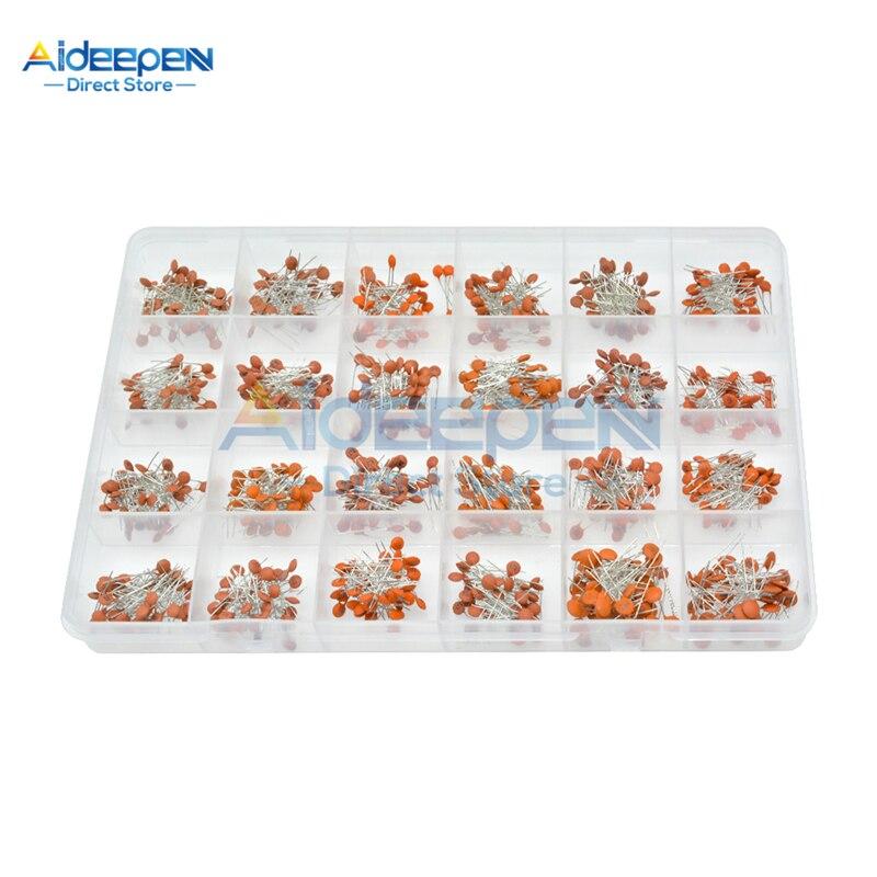 960Pcs/lot 50V Ceramic Capacitor Set 24 Value*40 Pcs=960Pcs 2PF-0.1UF Ceramic Capacitors Kit 10% Tolerance With Plastic Box