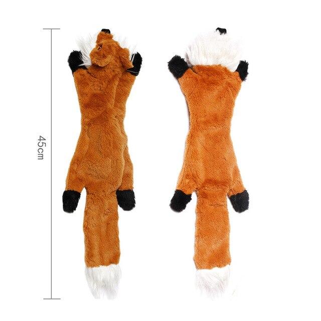 Cute Plush Squeaky Pet Toys-  - Rabbit - Squirrel - Skunk - Fox 5