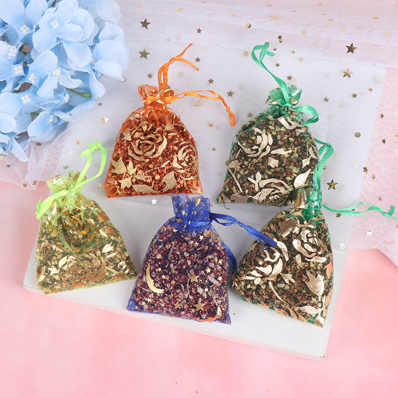 5 Bags 6g Natural Lavender Bud Dried Flower Sachet Bag Aromatherapy Aromatic Air Refresh Scent Fragrance Car Home Office Decor