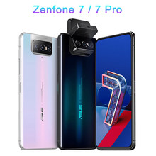 Versão global asus zenfone 7/7 pro 8gb ram 128g/256gb rom snapdragon 865/865 mais 5000mah nfc android q 90hz 5g telefone do smartphone
