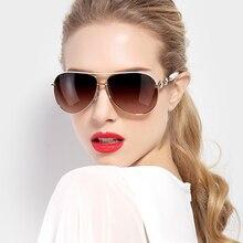 高級ダイヤモンド偏女性サングラスエレガントなブランドのデザイナーサングラスドライバー女性パイロット眼鏡 9613 PARZIN