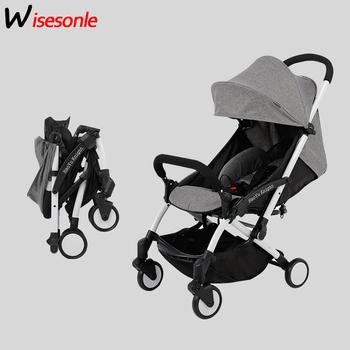 Wisesonle Carrinho De Bebe lekki wózek szybki składany wózek ze stopu aluminium wózki dziecięce tanie i dobre opinie 13-18 M 2-3Y 4-6 M 7-9 M 19-24 M 10-12 M 0-3 M 25kg 598A Numer certyfikatu High-carbon steel 17 colors Lightweight Stroller