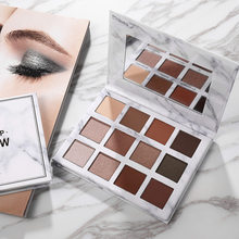 Qiaoyan multi-color nude maquiagem mármore sombra de olho plate12color terra shimmer sombra maquiagem