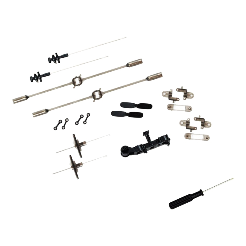 Crash Set, 15 Parts Incl. Screwdriver, Fits For S107G, Syma S107, RC Helicopter Spare Parts