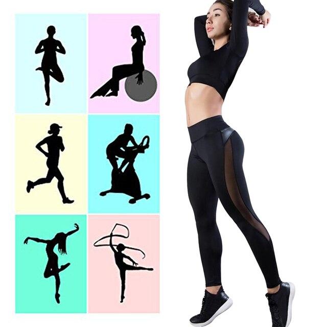 2020 Women Leggings Sexy Mesh Pants Push Up Fitness Gym Leggins Running Leggins Seamless Workout Pants Femme High Waist Mujer 4