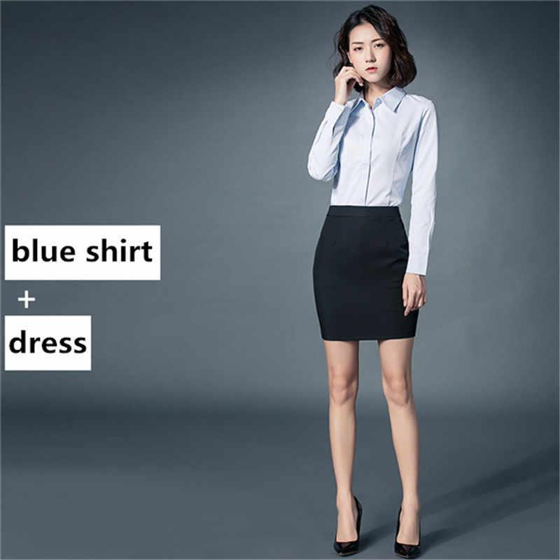 2020 moda ofis iş kadın gömlek sonbahar kış pamuk sıcak kadın gömlek kadın resmi OL takım elbise artı boyutu 5XL WXF600