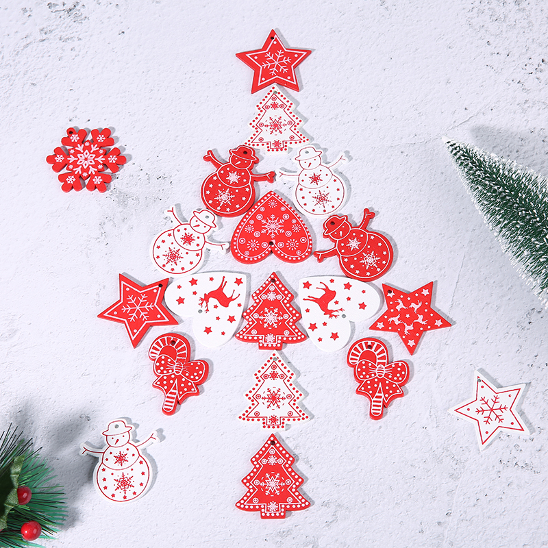 Super Deal 69360b 5cm Wooden Snowflake Christmas Tree Pendant Ornament For 2021 New Year Natural Wood Chirstmas Hanging Ornaments Xmas Tree Decor Cicig Co