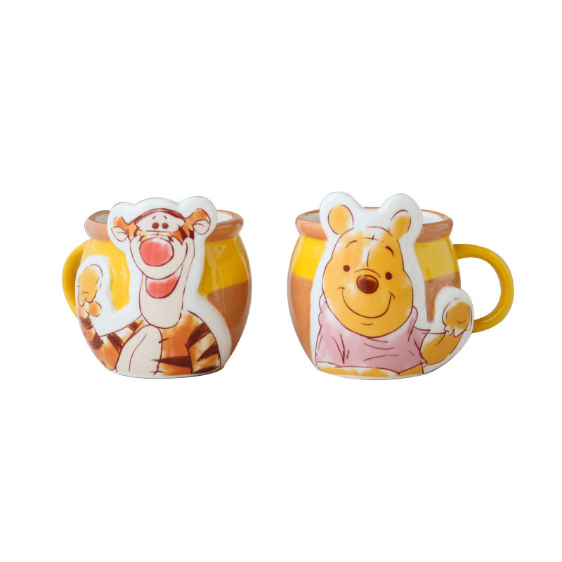 300ml Disney Pooh Tiger Cartoon Water Cup Coffee Milk Tea Festival Ceramic Mug Home Office Collection Cup Festival Children Gift