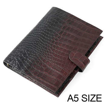 Genuine Leather Rings Notebook A5 Agenda Organizer Cowhide Diary Journal Sketchbook Planner Business Office School Stationery - DISCOUNT ITEM  42 OFF Education & Office Supplies