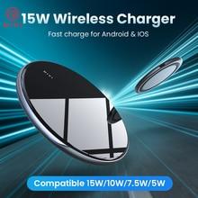 DIVI Wireless Charger สำหรับ iPhone 11 X XS MAX XR 8 15W MAX กระจกไร้สายชาร์จ Pad สำหรับ Samsung s9 S10 USB ประเภท C