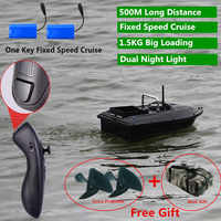 Constant Speed Cruise Function 500m Smart Lure Fishing Remote Control Fishing Bait Boat Auto RC Remote Control Fishing Bait Boat