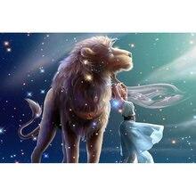 Diy картина по номерам лев маслом Раскраска Животные Фея wall