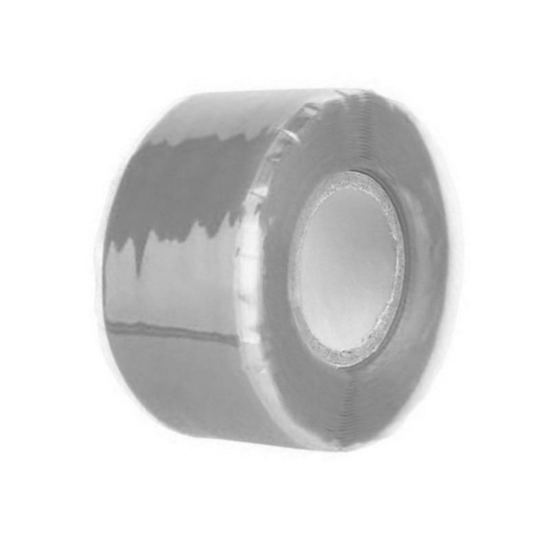 Силиконовая Водонепроницаемая лента для ремонта, склеивающая спасательная самосплавляющаяся проволочная лента, черная прозрачная пленочная лента, клейкая лента, Лидер продаж - Цвет: Серый
