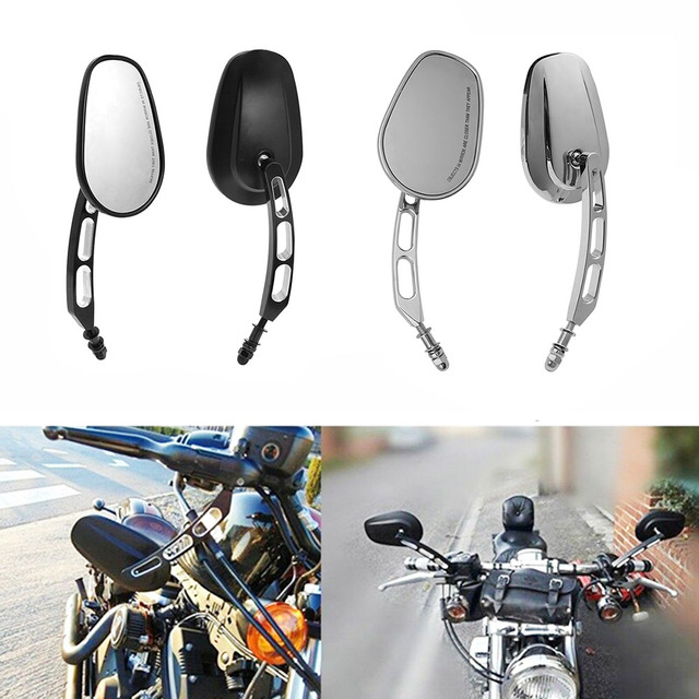 $ 27.19 Motorcycle Universal 8MM Rear View Side Mirrors For Harley Road King Touring Sportster XL883 1200 Fatboy Dyna Softail Breakout