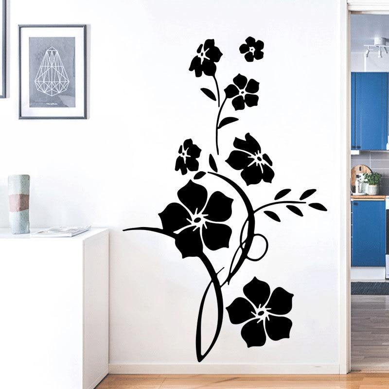 Modern Floral Vine Wall sticker | Living Room Door Wallpaper, Home Wall Decor, PVC Art Stickers