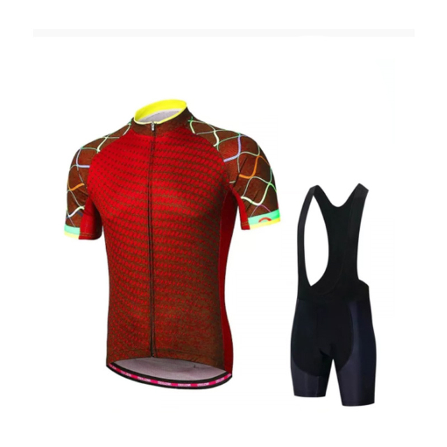 2021 Bicycle Shirt Set Men's Bicycle Wear Summer Short Sleeve Quick Dry MTB Bicycle Wear Quick Dry 1