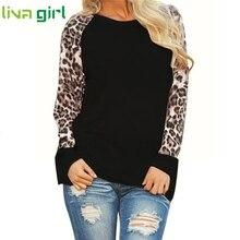 CHAMSGEND куртка женская леопардовая блузка с длинным рукавом модная женская футболка большие размеры Топы пальто Casaco Feminino Manteau