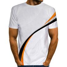 Футболка мужская с графическим принтом простая полосатая рубашка