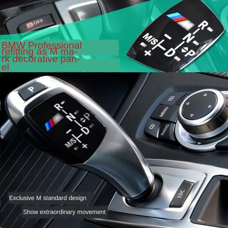 for BMW X1 X3 M3 M5 F01 F10 F30 F35 F18 at Gear Sticker Shift Knob Panel