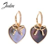 Joolim Double Star Dangle Earring Shell Drop