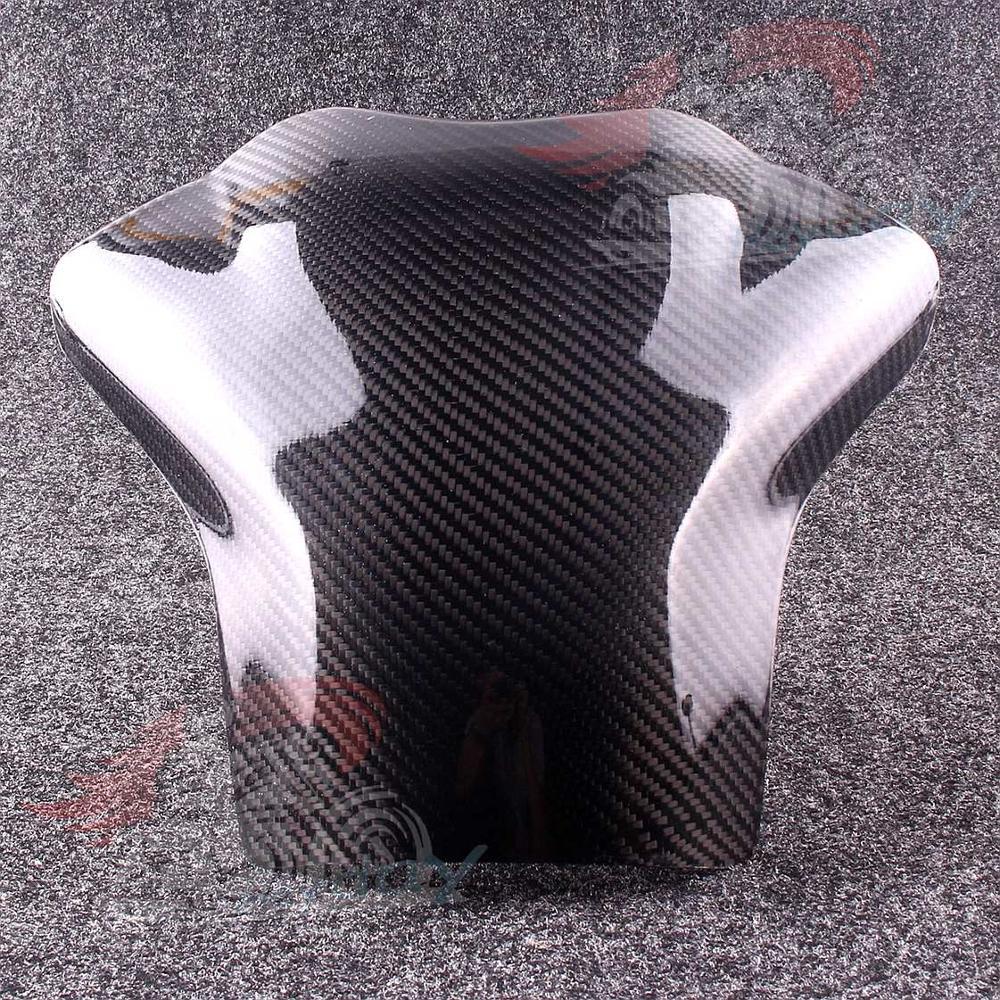 Almohadilla protectora de tanque de combustible de fibra de carbono para YZF R1 2004 2005 2006 Kit aerodinámico de 2 uds. Para motocicleta, Kit de alas para Honda NC, CB, CBR, Kawasaki, Ninja ZR, ZX, Yamaha y YZF, en blanco, negro y rojo