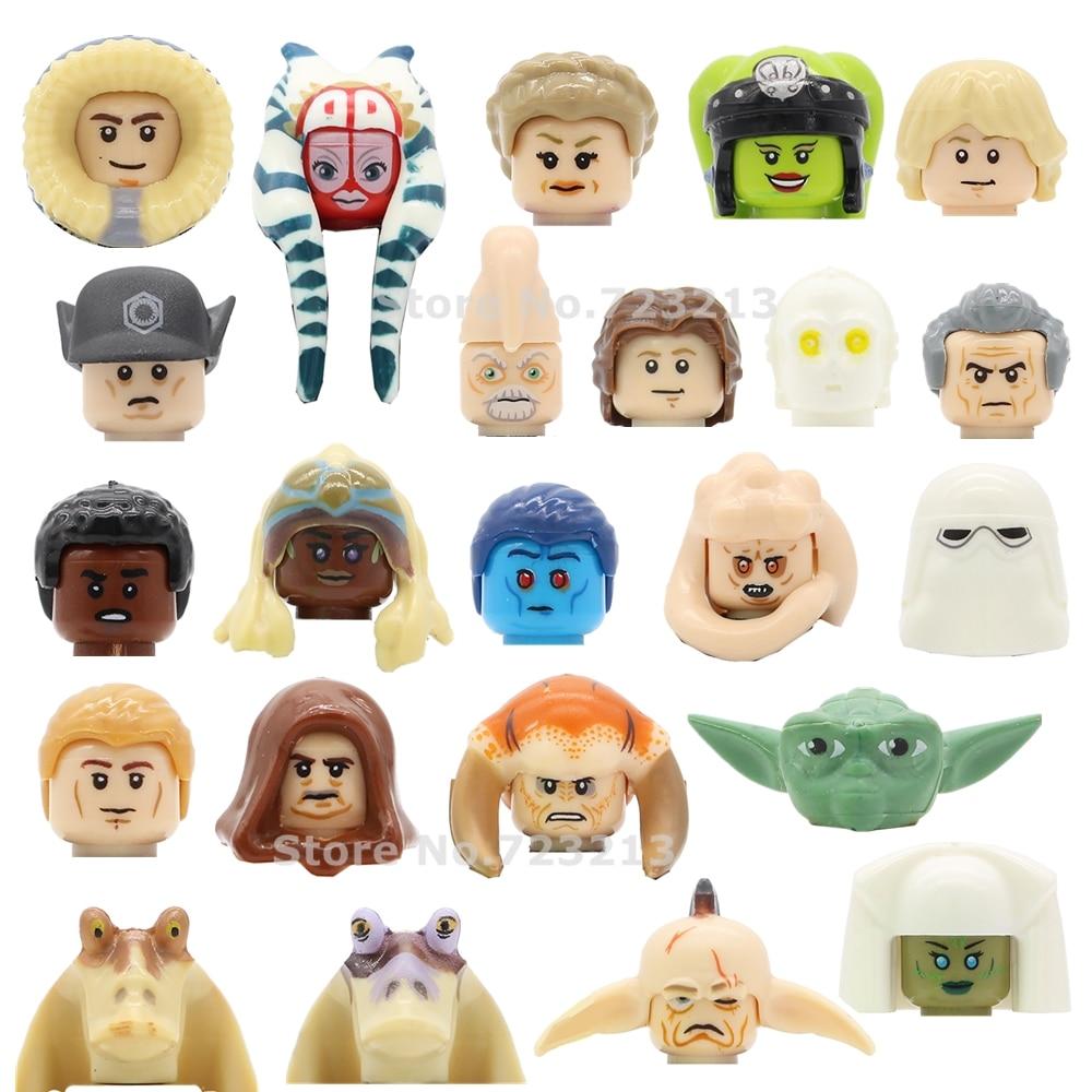 Single Sale Star Wars Oola Shaak Ti Luke Figure Head Saesee Tiin Jedi Consular Han Solo Ki Adi Mundi Building Blocks Toys