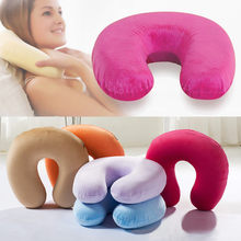 Slow Rebound U-Shape Memory Foam Comfort Neck Support Soft Velour Travel Cushion Pillow With Rucksack Travel Pillow poduszka(China)
