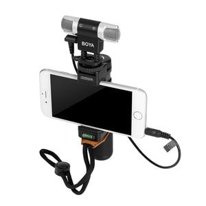 Image 4 - BOYA BY MM3 micrófono de condensador de grabación estéreo de doble cabezal para iPhone 8, Android, teléfono inteligente, cámara DSLR, vídeo de transmisión DV