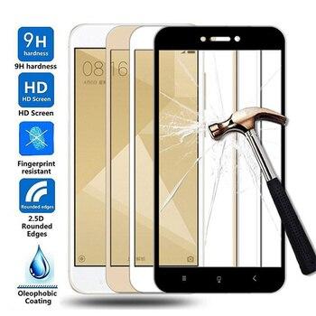 Перейти на Алиэкспресс и купить 15D Защитное стекло для Xiaomi Redmi 4X 5A 5 Plus 6 6A 7A Redmi Note 4 4X 5 5A Pro закаленное стекло чехол с защитной пленкой для экрана