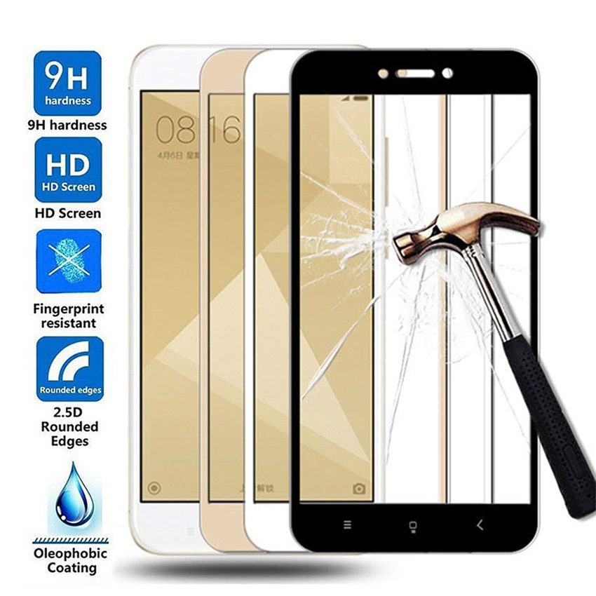 15D Protective Glass For Xiaomi Redmi 4X 5A 5 Plus 6 6A 7A Redmi Note 4 4X 5 5A Pro Tempered Glass Screen Protector Film Case(China)