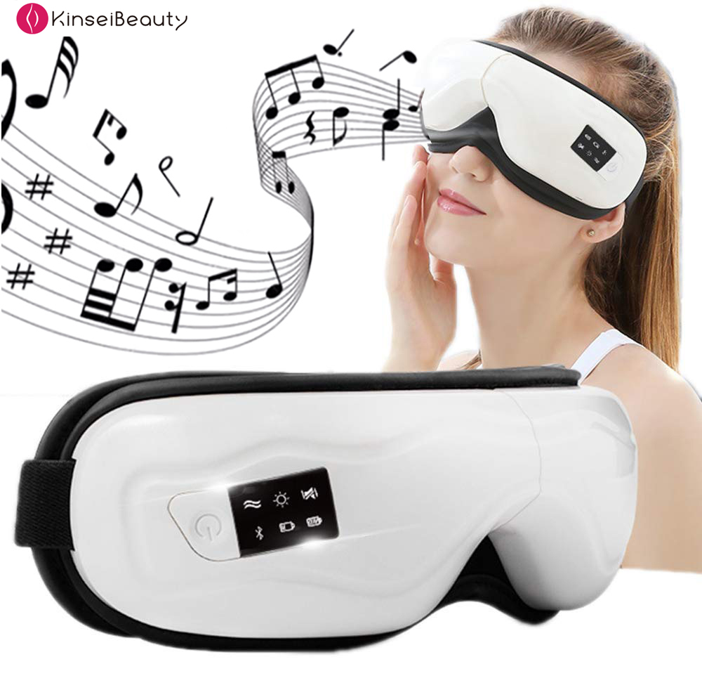 Smart Bluetooth Music Eye Massager Mask Wireless Air Pressure Hot Compress Vibrate Relieve Dark Circles Eye Fatigue Eyes Care