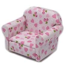 Горячая продажа 1 шт. 1:12 миниатюрный мягкий диван для кукол мини мебель Игрушки для девочек подарок