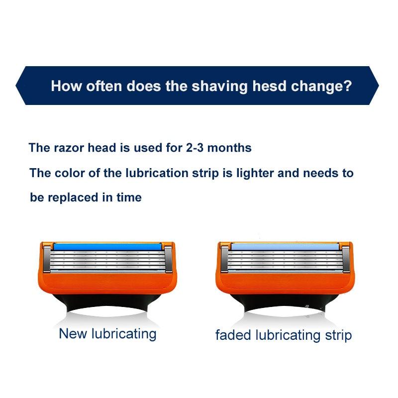 barbeador masculino gillette laminas de barbear ajuste 04