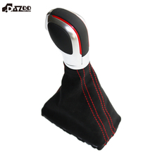 Gear-Shift-Knob Car-Accessories DSG Suede GOLF Real-Leather Black DAZOO for 7-Mk
