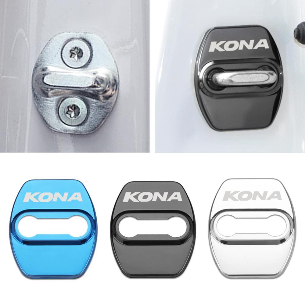 Крышка дверного замка автомобиля чехол для Hyundai KONA аксессуары для стайлинга автомобиля Наклейки на автомобиль      АлиЭкспресс
