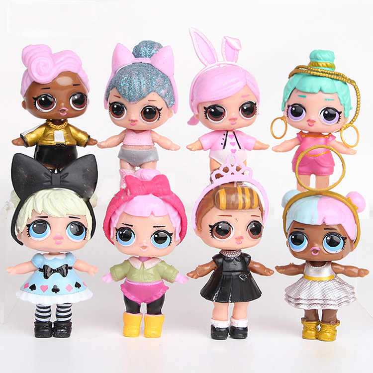 L.O.L SURPRISE! 8 Pieces Lol Dolls Toys For Girls Surprise Gift Baby Doll Girls Toys Doll Lol Surprises Kids Birthday Gift 8cm
